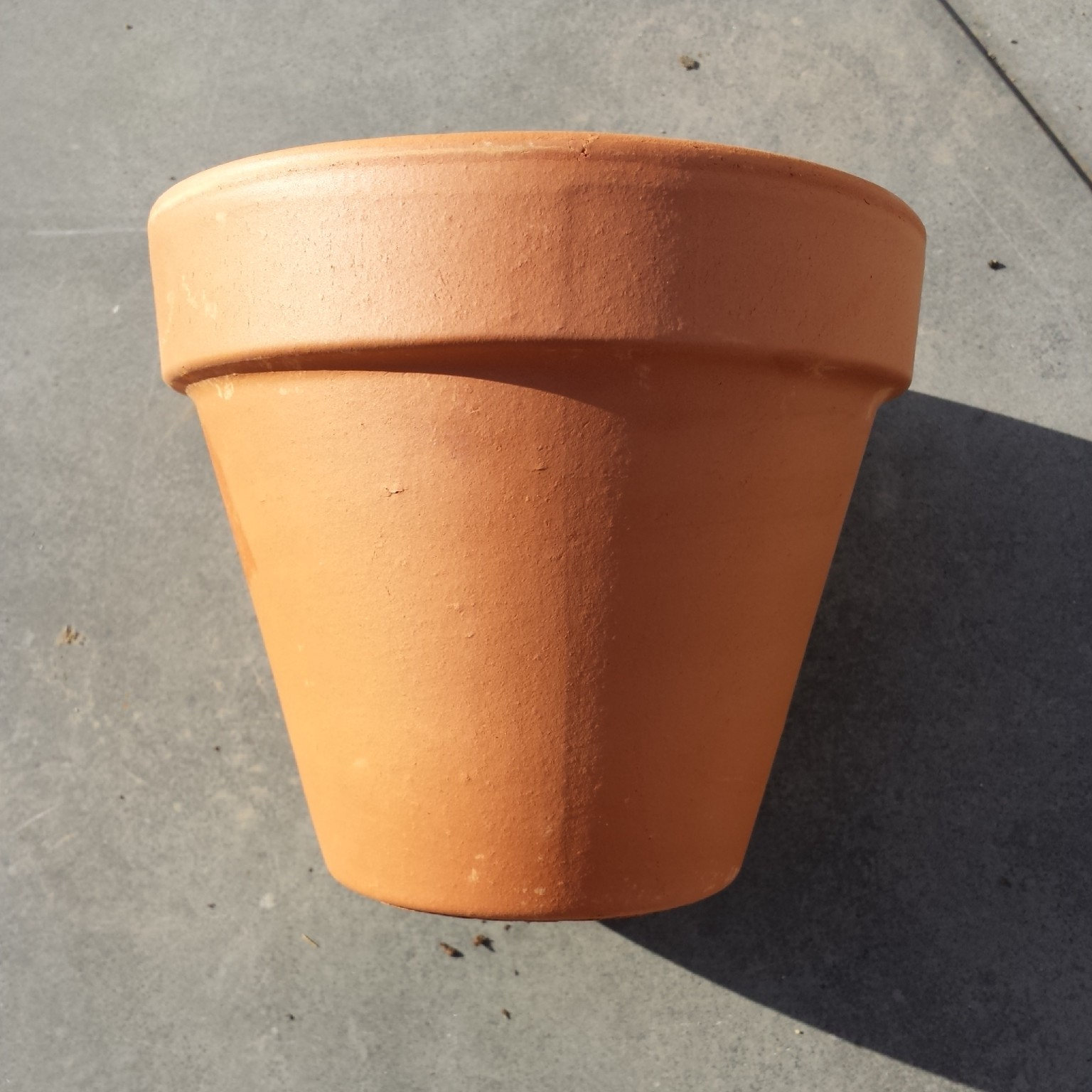I bought three of these terracotta pots...